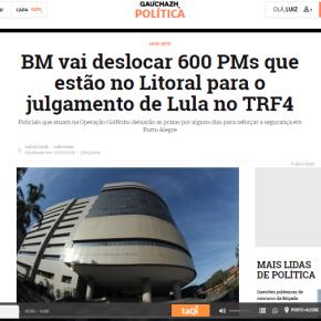 Absurdo: Sartori abandona Segurança no litoral para mandar brigadianos a Porto Alegre durante manifestações de apoio aLula