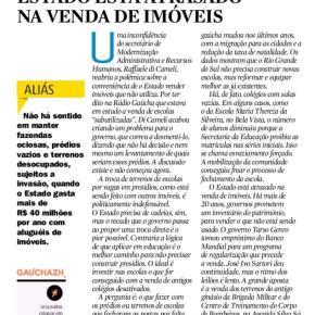 """Privataria: RBS """"exige"""" mais rapidez de Sartori na venda de Escolas Públicas e do Ginásio da BrigadaMilitar"""