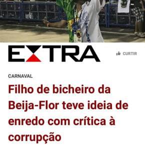"""Beija Flor: Elogio a hipocrisia nacional, aos patos """"manifestoches"""" e a capacidade  de manipulação daGlobo"""