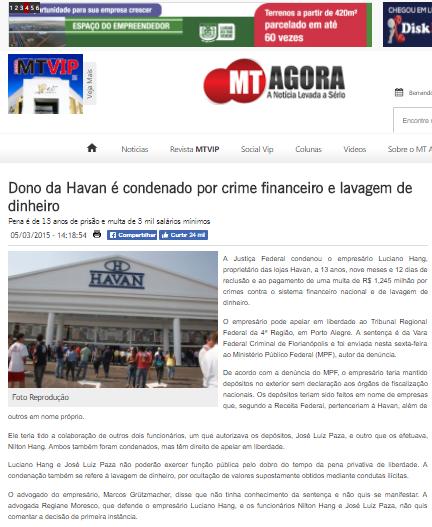 Dono Da Havan Foi Condenado Por Lavagem De Dinheiro E Evas O De Divisas Mas Lu Z M Ller Blog