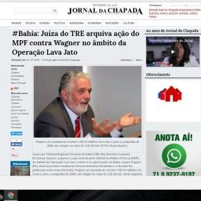Depois do TRE/BA arquivar ação do MPF, Jacques Wagner é vitima de ataque da golpista LavaJato