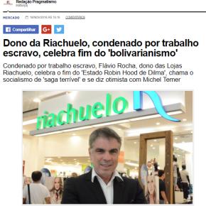 Sem candidato descente, tucanato quer dono da Riachuelo, condenado por trabalho escravo, paraPresidente