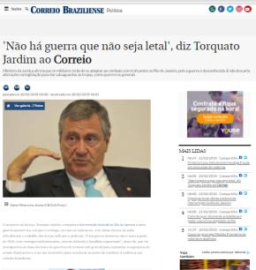 """Intervenção Militar: Segundo Ministro """"guri(…) combatente inimigo"""" pode ser eliminado adistância"""