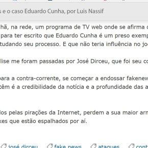 Blogueiros que atacam Pimenta e Damus já haviam sido denunciados de Fake News por LuizNassif