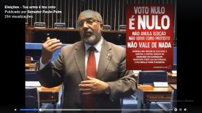 Didático e esclarecedor vídeo do Senador Paim sobre o VotoNulo