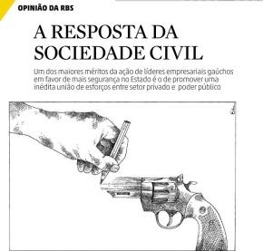 RBS E A ESCOLA QUE ENSINA A DESENHAR ARMAS PARA DEFENDER A PROPRIEDADE… DE QUEMPAGA