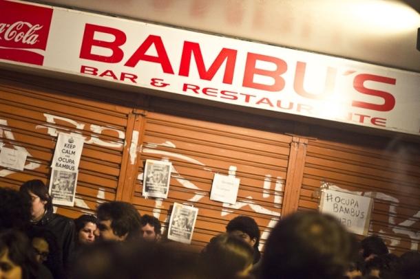 Ocupa Bambu's, em 2012: frequentadores protestam contra a interdição do bar