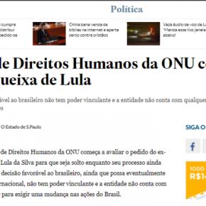 ONU COMEÇA INVESTIGAÇÃO SOBRE A PRISÃO POLÍTICA DELULA