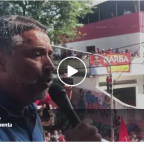 Vídeo ao vivo: Discurso  de Paulo Pimenta, dá o tom do sentimento do povo presente #OcupaSãoBernardo