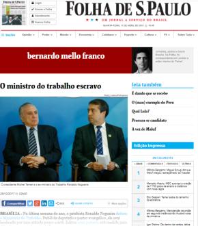 Sai Nova lista suja do trabalho escravo que Ministro Gaúcho tentouesconder