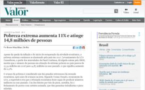 APÓS O GOLPE, POBREZA EXTREMA CRESCE DE FORMA AVASSALADORA NO BRASIL, DIZ VALORECONÔMICO