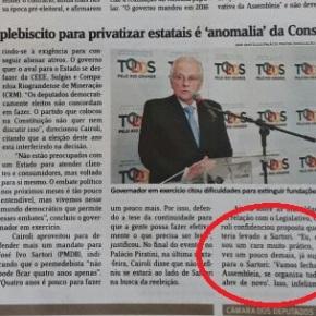 """Cairoli propõe """"fechar Assembléia Legislativa"""" na marra pra que consiga privatizar patrimônio doEstado"""