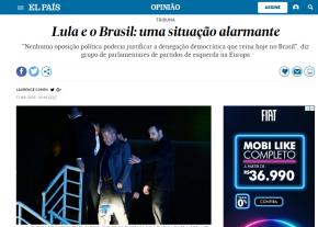 Mídia internacional estampa manchetes que a mídia brasileiraesconde