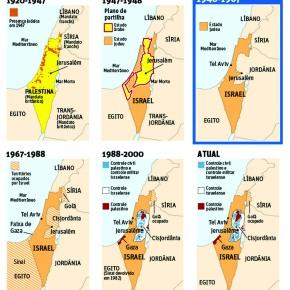 O mapa que mostra por que a luta dos Palestinos é Justa e deve serapoiada