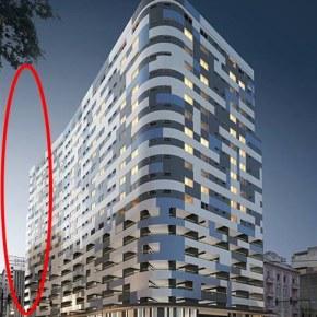 Em anúncio, lançamento imobiliário já 'eliminava' prédio ocupado quedesabou