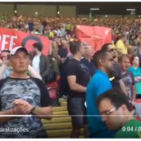 Em pleno Jogo Brasil x Croácia, faixas pedem  Liberdade para Lula (vídeo)#LulaLivre
