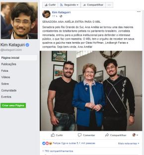 Depois de defender agressões a quem pensa diferente, Ana Amélia adere ao fascistaMBL