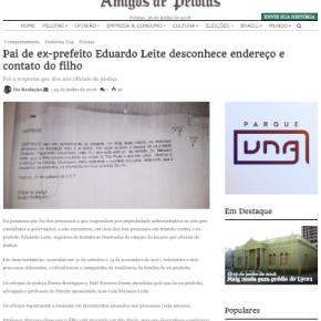 Estranho tucano: Pai de Eduardo Leite desconhece endereço e contato dofilho