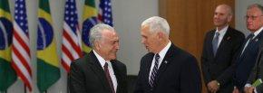 Brasil passando Vergonha: Vice-Presidente dos EUA trata Temer comoserviçal