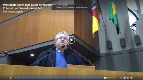 Da Tribuna da Câmara, Vereador Adeli Sell denuncia métodos fascistas de Nagelstein e Marchezan(Vídeo)