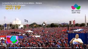 Nicarágua/39 anos da Revolução Sandinista: Milhares vão as ruas contra o Golpe e em Defesa daDemocracia