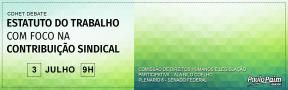 DEBATE NO SENADO NESTA TERÇA FOCARÁ ESTATUTO DO TRABALHO E CONTRIBUIÇÃOSINDICAL