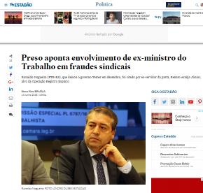 Preso cita Ex Ministro gaúcho Ronaldo Nogueira por envolvimento em fraudes sindicais no Ministério doTrabalho