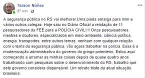 Denúncia: Sartori e sua trupe mandam pesquisadores graduados da FEE para… a PolíciaCivil