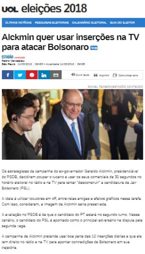 Alckmin e a mídia agora batem no mostro que geraram a partir da propagação do medo, ódio eviolência