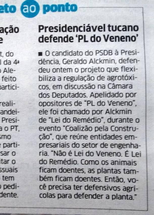 Alckmin Veneno