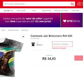 Lojas Americanas vendem camisetas  de Apologia ao Nazismo e contraLula