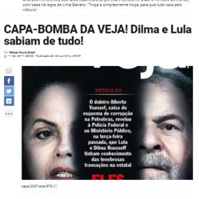 Bomba da capa da Veja de 2014 explode 4 anos depois, no colo dos funcionários daAbril