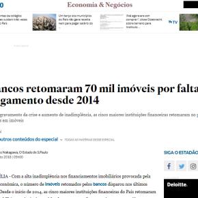 BANCOS JÁ RETOMARAM MAIS DE 70 MIL MORADIAS DESDE OGOLPE