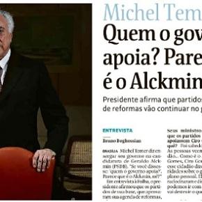 O traidor virou traído e declara seu amor de morte (Temer é Alckmin e Alckmin é Temer, diz naFolha)