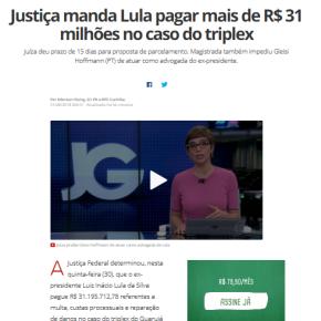 Teatro do Absurdo: Judiciário  condena Lula a pagar 31 milhões no caso dotriplex