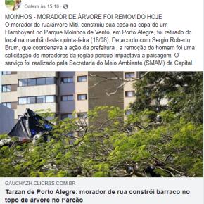 """Porto Alegre: Prefeito tucano retira  Morador de Rua por que """"impactava paisagem"""""""