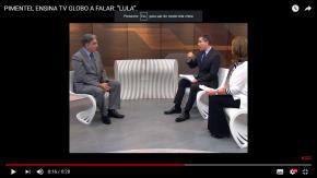 """HILÁRIO: PIMENTEL ENSINA TV GLOBO A FALAR """"LULA"""" EMENTREVISTA"""