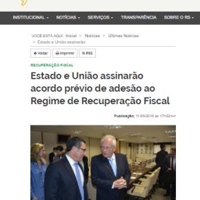 O Gringo tá errado! Sartori anuncia na página do Governo que entrega o Rio Grande antes daeleição