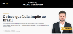 Colunista Paulo Germano da RBS exala   ódio contra Lula, o povo e ademocracia
