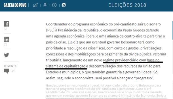 Bolsonaro Previdência 2