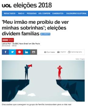 """O fascismo avança no Brasil e já aparta os """"diferentes"""" até mesmo dentro dasfamílias"""