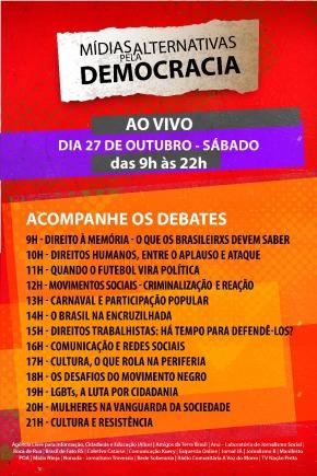 Ao Vivo na Rede: Mídias alternativas de Porto Alegre transmitirão programação em defesa da democracia nestesábado