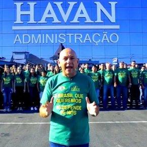 Dono da Havan ameaça funcionários que não votarem nofascista