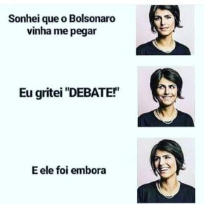 Manuela enfrenta Bolsonaro!