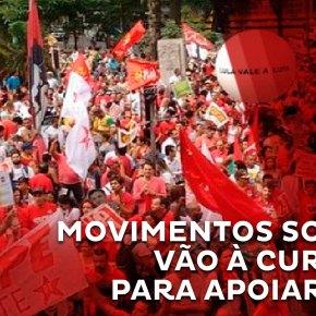 Movimentos sociais acompanham Lula em depoimento nestaquarta