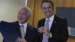 Bolsonaro diz que MDB de Temer será bem vindo em seu governo. Corrupção pouca ébobagem!