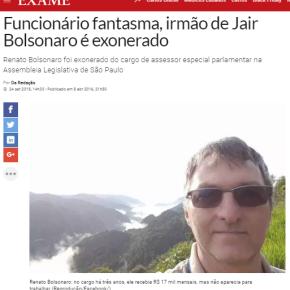 FAMÍLIA EXEMPLAR: IRMÃO DE BOLSONARO FOI EXONERADO DEPOIS DE 3 ANOS RECEBENDO SEMTRABALHAR