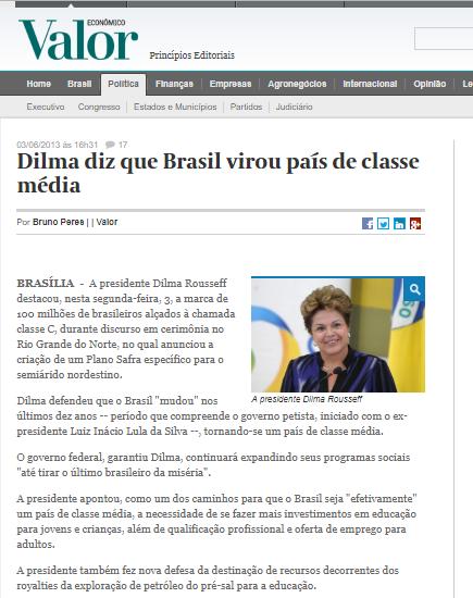 Classe Média Dilma
