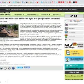 Vergonha: Judiciário autoriza Marchezan a atropelar a Lei e privatizar a Água dos PortoAlegrenses