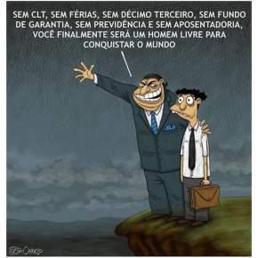 """Bolsonaro quer """"livrar"""" trabalhador dos direitostrabalhistas"""